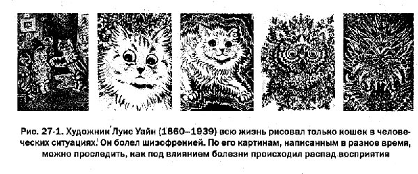 Как изменяется зрительное восприятие при прогрессировании шизофрении на примере творчества художника Луиса Уайна